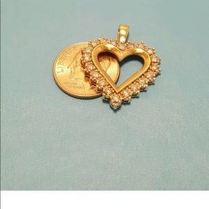 Jewelry - 14k gold Diamonds heart shaped.